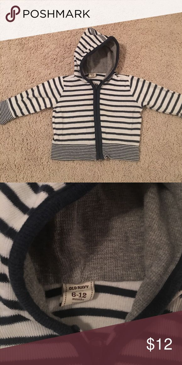 Boys sweater zip up hoodie Striped boys sweater; perfect for your little nautical boy in the springtime! Shirts & Tops Sweatshirts & Hoodies