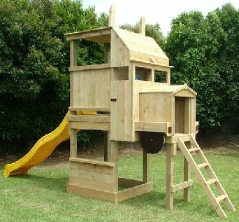 Diy backyard playground kidz play time equipment awesome for Play yard plans