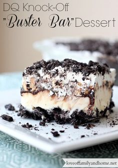 "Buster Bar Dessert: If you love Dairy Queen ""Buster Bars"", then you are gonna LOVE this dessert!!"