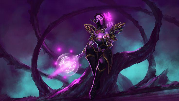 Templar Assassin: Dancing Butterfly Wallpaper, more: http://dota2walls.com/templar-assassin/dancing-butterfly-wallpaper