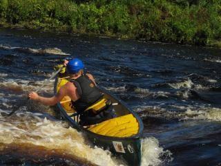 Whitewater Canoeing and Kayaking programs. Open canoe! Mad River Canoe!