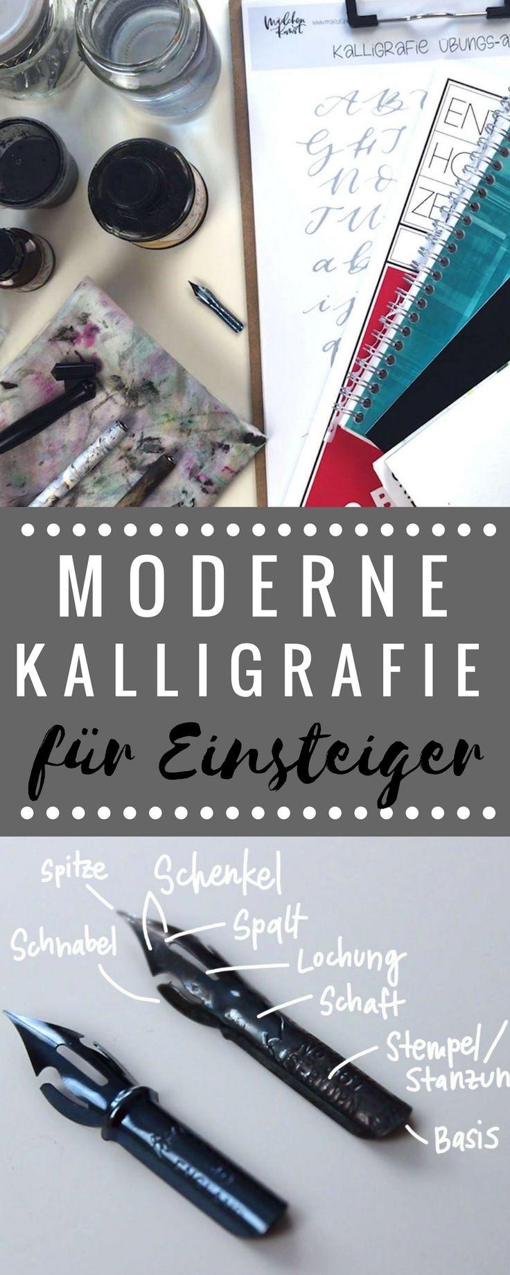 Moderne Kalligrafie für Einsteiger inkl. umfangreichem Video und coolen kostenlosen Übungsblättern