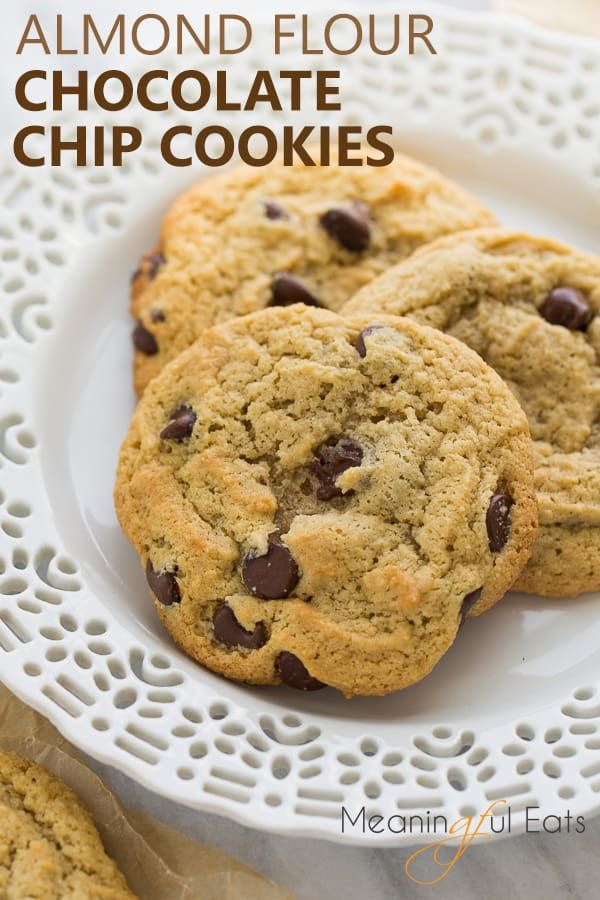 Almond Flour Chocolate Chip Cookies Grain Free Recipe With