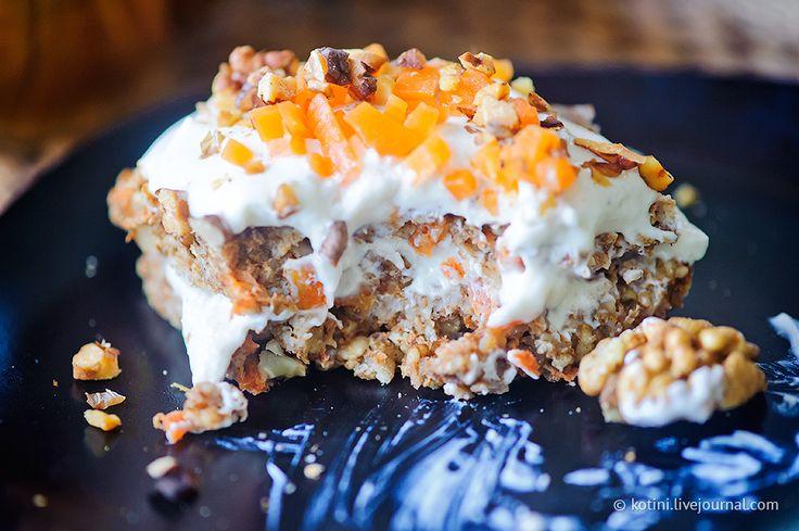 Travel around the world - Десерт на завтрак можно всем. Пирожное из овсянки со взбитым кремом и орехами