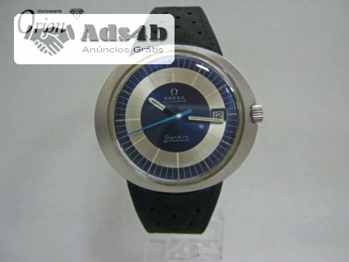 Relógio Omega antigo com movimento Omega calibre 565 mecânico de corda automática com uma frequência de 19,800 alternâncias/horas e com uma reserva de corda aproximada de 50 horas fabricado ...