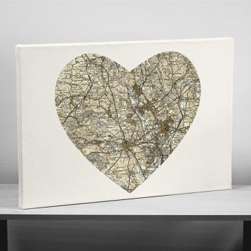 Personalised Map Canvas - Postcode
