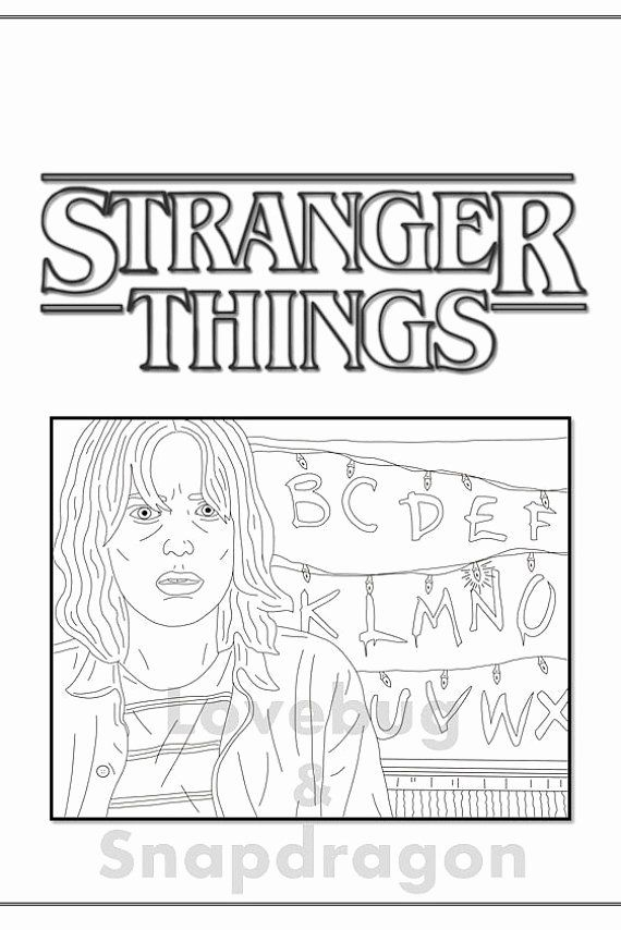 32 Stranger Things Coloring Book Halloweenfiles Com In 2020 Coloring Books Coloring Pages Inspirational Coloring Pages