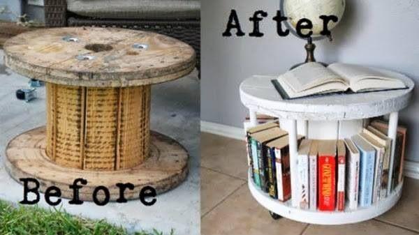 DIY bookshelf/coffee table.. Genius and adorable