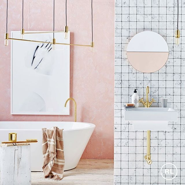 Pink Is Perfect In The Bathroom Especially When Teamed With Marble And Brass