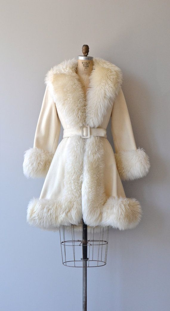 White Chimera coat vintage 1960s princess coat by DearGolden