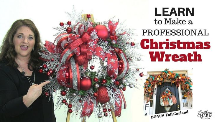 Wreath Making of the Month Club - October 2017 Christmas Wreath Preview