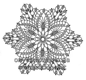 Шестиугольные мотивы крючком со схемами фото 549