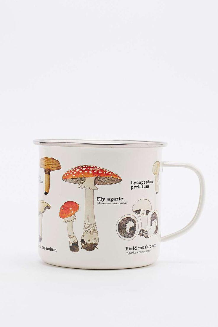 Tasse champignon en émail
