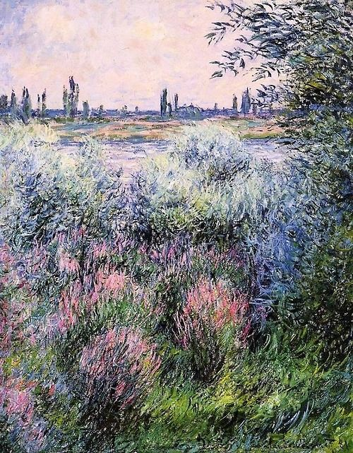 A Spot on the Banks of the Seine - Claude Monet