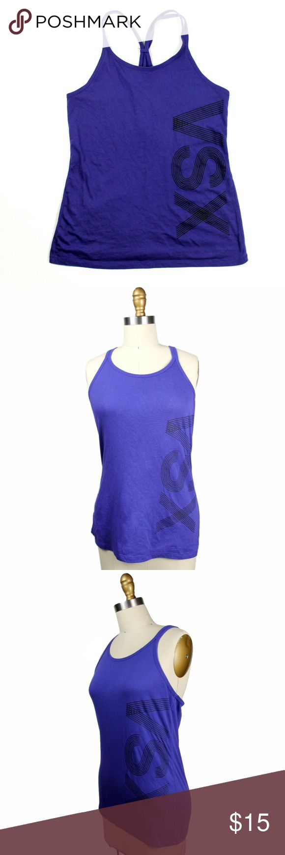 """VSX Sport Purple Strappy Work Out Tank - Small VSX Sport Purple Strappy Work Out Tank - Small  - Double strap racerback tank by VSX Victoria's Secret Sport - Excellent condition - no flaws or signs of wear - 60% cotton 40% polyester - 16"""" armpit to armpit, 25"""" length  171227 Victoria's Secret Tops Tank Tops"""