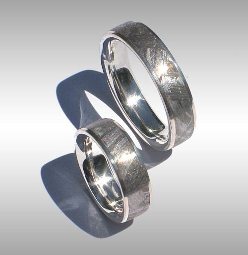 Trendy Finest Quality Seamless Meteorite Rings Meteorite Bands Meteorite Engagement Rings and Meteorite Wedding Bands