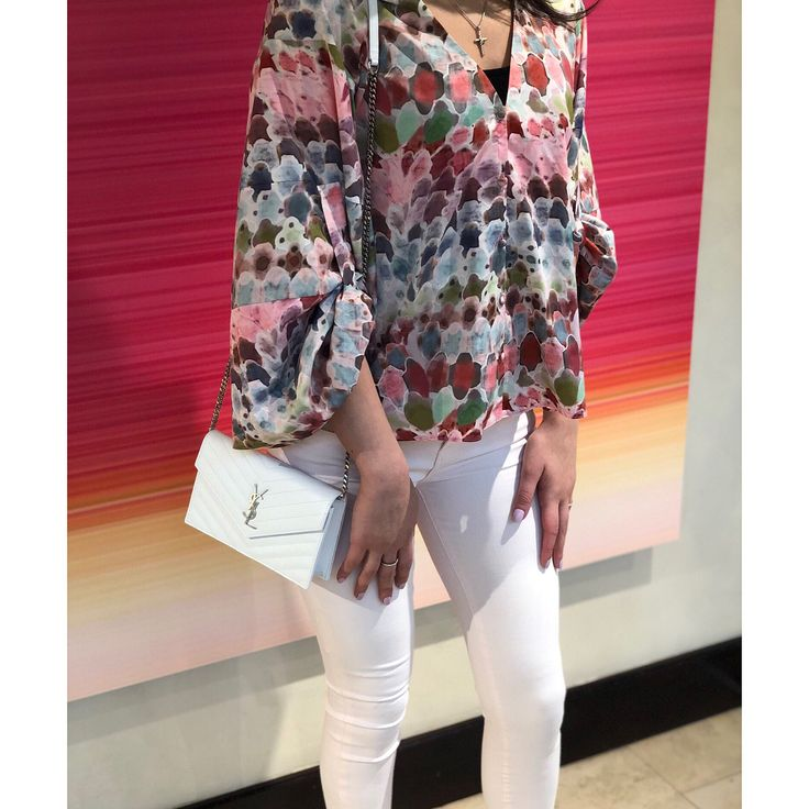 New Merchandise  |  Floral prints embellished sleeves pops of pink and pastel colors are all apart of this seasons S/S 2018 fashion trends. Ladies if your interested in any of this new merchandise feel free to contact me (information in bio) to schedule an appointment.         Model |  Amaris Bakko @___amaris  Blouse |  ALEXIS @shop_alexis Jeans |  7 For All Mankind @7forallmankind  Pumps |  Christian Louboutin @louboutinworld  Crossbody |  Saint Laurent @ysl  #iworkatnm #nmtroy #nmwomens…