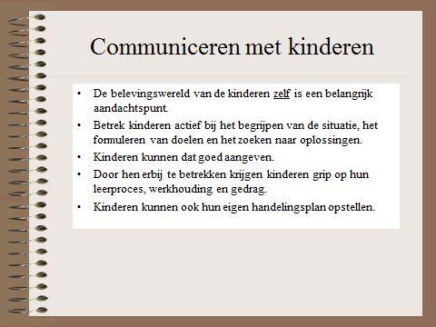 HGW: communiceren met kinderen