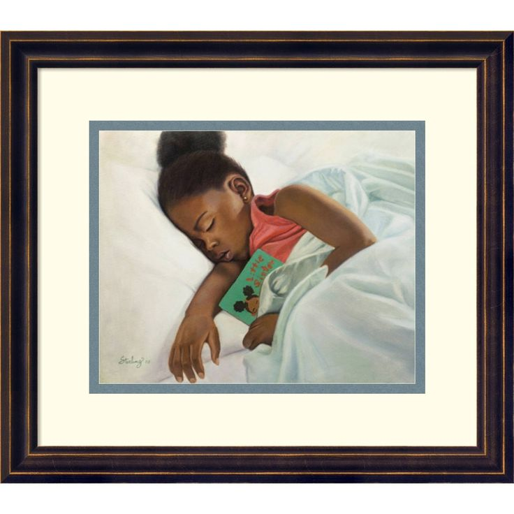 Framed Art Print 'Little Sister' by Sterling Brown 16 x 14-inch