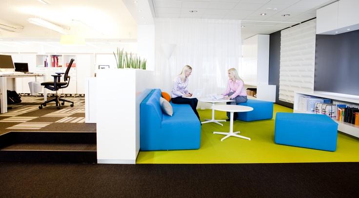 Alberga Business Parkissa, ÅF:n tiloissa ja yhdistetty joustavasti erilaisia työpisteitä