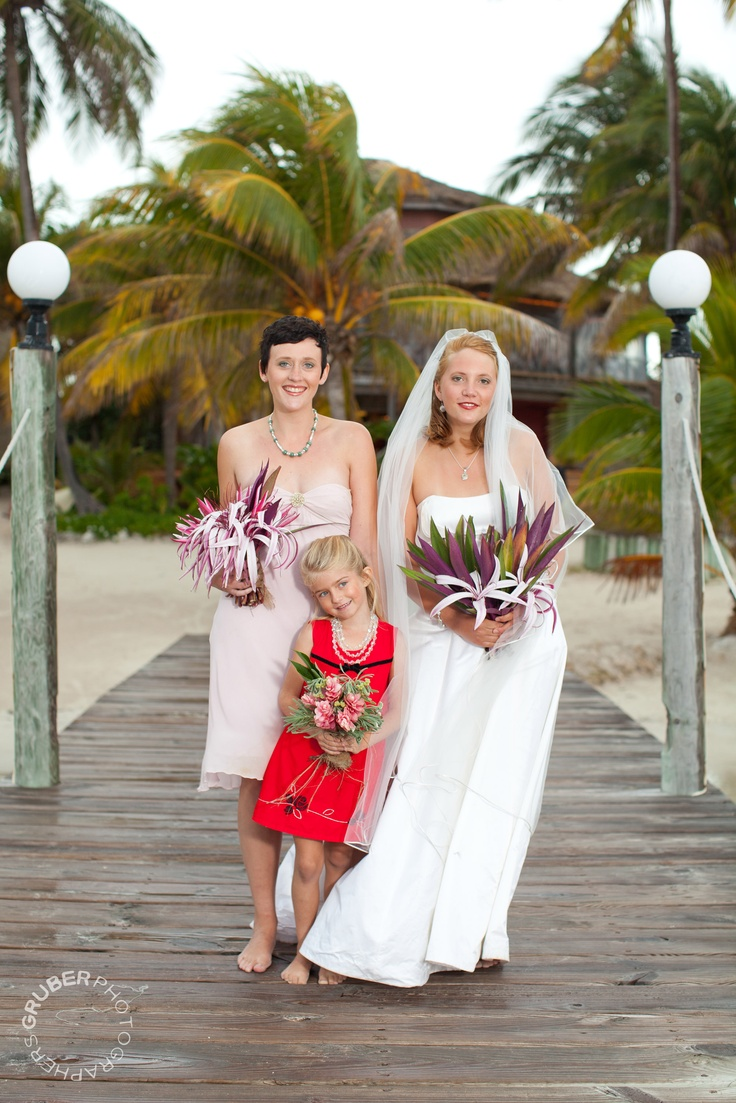 Bride, Maid of Honor and Flower Girl