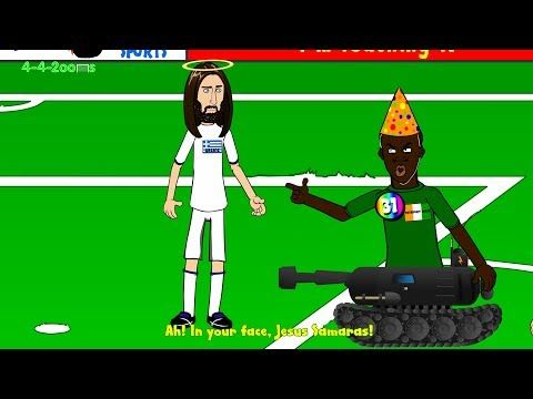 SAMARAS PENALTY - Greece v Ivory Coast 2-1 by 442oons (World Cup 2014 cartoon 24.6.14)
