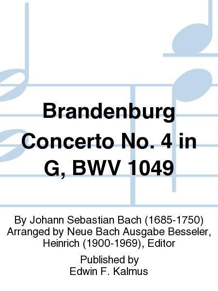 Brandenburg Concerto No. 4 in G, BWV 1049