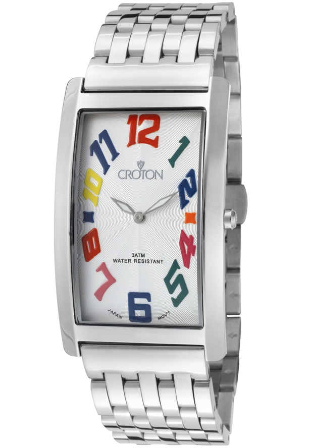 Price:$92.43 #watches Croton CR307887SSDW, With a royal appeal, this Croton timepiece has a regal design and adds a refined look to your wardrobe.