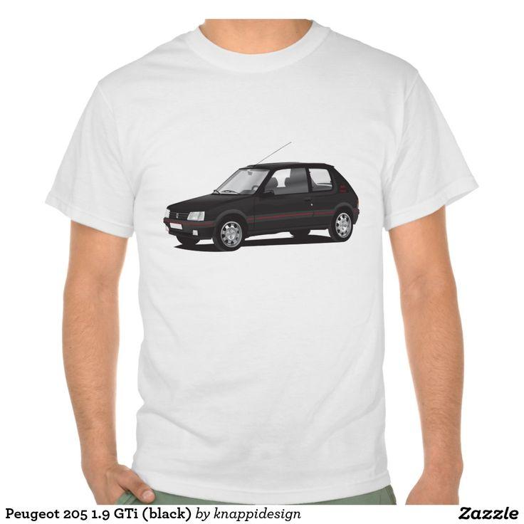 Peugeot 205 1.9 GTi (black  #peugeot #peugeot205 #peugeot205gti #gti #205gti #80s #automobile #french #france #car #tshirt #shirts #zazzle #black #hothatch