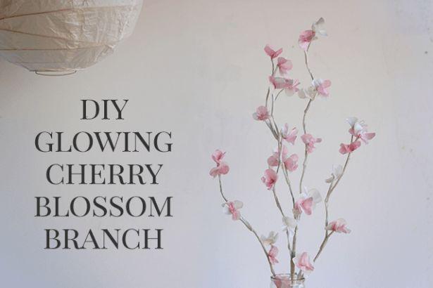 DIY Glowing Cherry Blossom Branch