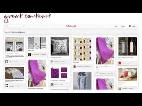 Promoting your products on Pinterest (and within Pinterest guidelines) GREAT video!