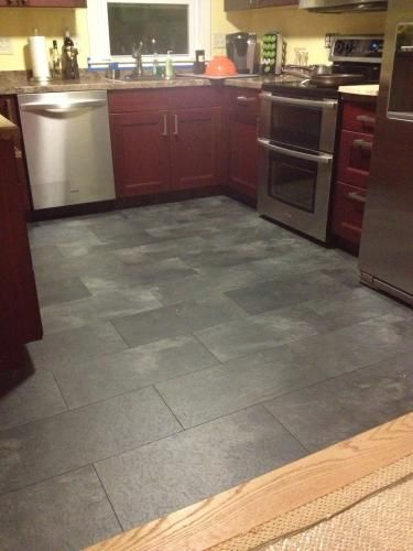 Pergo xp monson slate 10 mm thick x 11 1 8 in width x 23 for Square laminate floor tiles