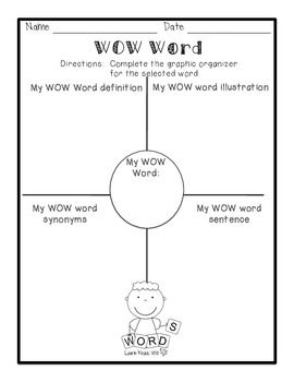 """""""Wow Word"""" - great to use to get children familiar with bigger words to then include in their everyday vocabulary/writing."""
