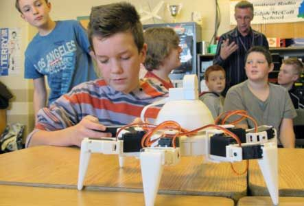 EZ-Robot has a humanoid, rover style, and hexapod robot. Suited for older kids.