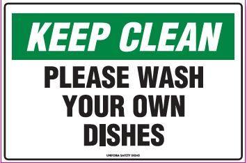 Printable Keep Breakroom Clean Signs | Keep Clean Sign ...