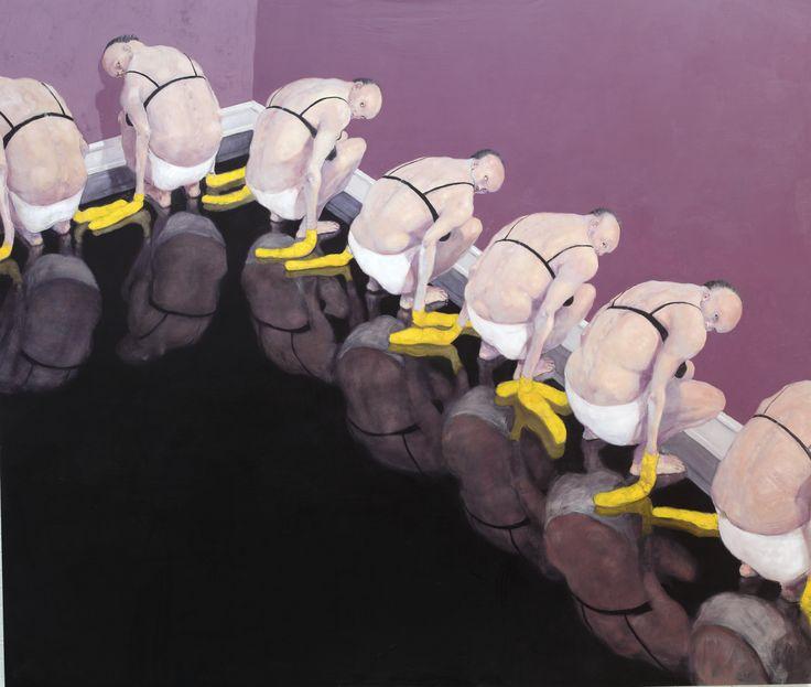 Michael Kvium. Social Dream Painting (1998).