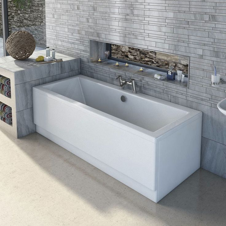 See our Chelsea double ended bath plus many more straight baths at…