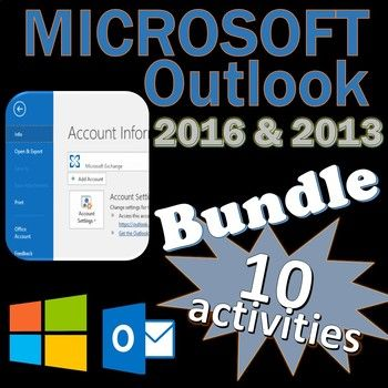 Great bundle of activities to elevate your students to become a Specialist in Microsoft Outlook. Excellent Certiport MOS exam prep activities. Files open in Microsoft PowerPoint and Word so you can edit them to your liking. Optimized for Office 2016 but most skills, tabs, and menus are similar