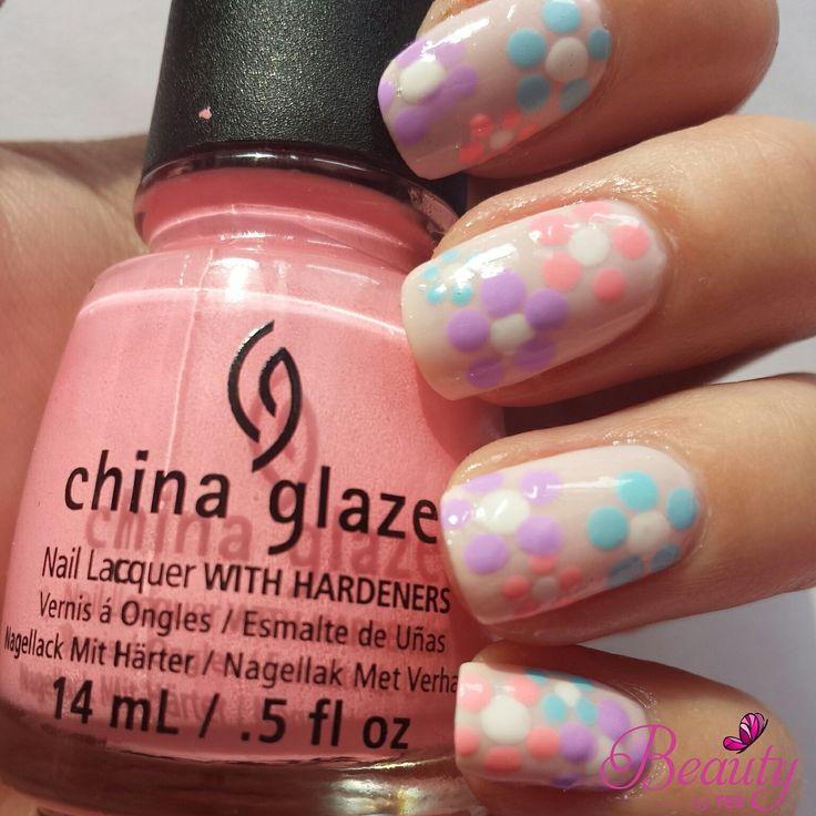 flower nail art China Glaze