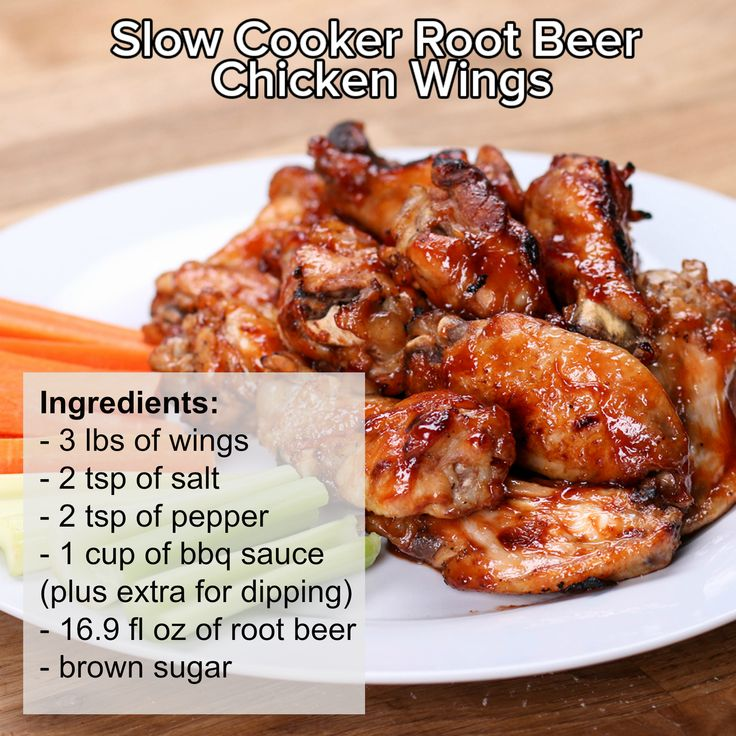 Slow Cooker Root Beer Chicken Wings