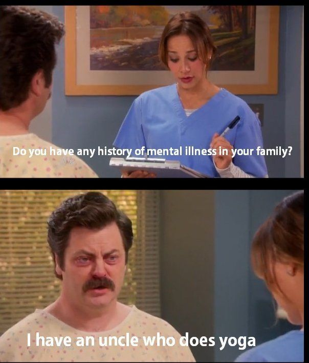 Parks and Rec.  Classic Ron Swanson.