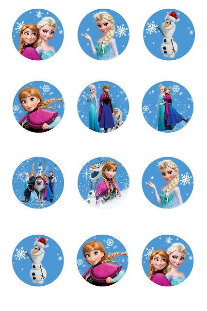 Free Frozen Bottle Cap Labels - Frozen One Inch Printable ...