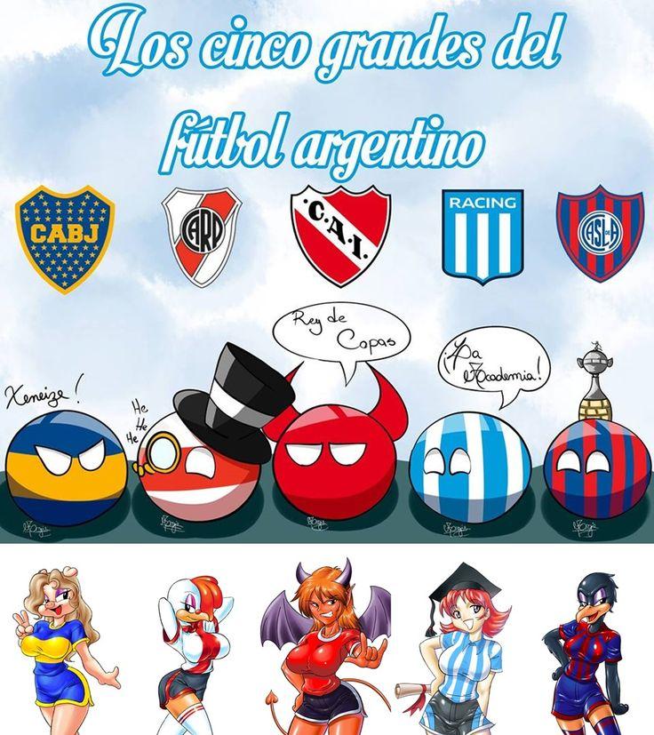 Los 5 Grande Del Futbol Argentino