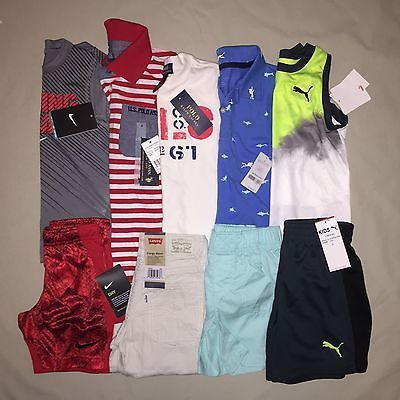 BOYS 4 4T LOT RALPH LAUREN US POLO NIKE PUMA SHIRT SHORTS OUTFIT NWT