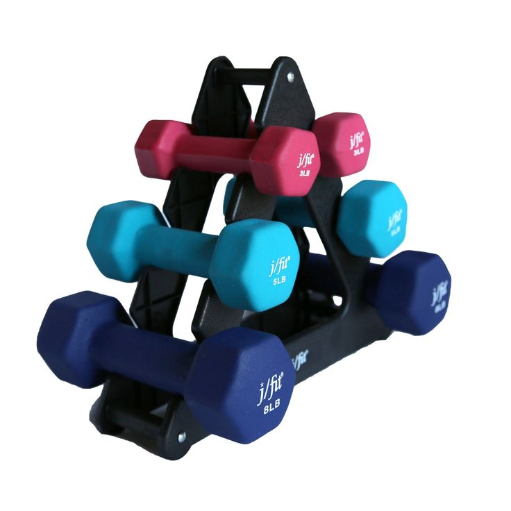 Jfit 32 Pound Dumbbell Set With Rack - 20-5200