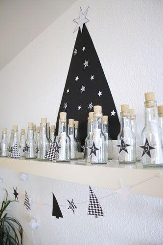 Gutscheine als Flaschenpost im Adventskalender