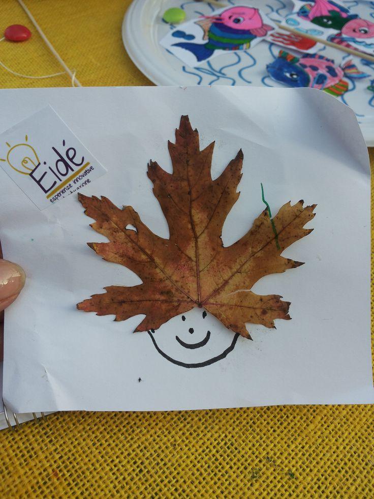 Le foglie prendono vita. Autunno. Laboratori creativi fatti dai bambini.