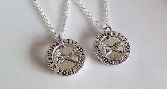 Forever Pinky promise necklaces Pinky swear by CharmsFromHanna