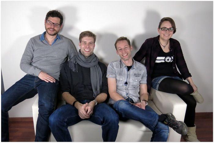 The Rundercover team - Peter, Olav, Daniel, Tabea #startup #kickstarter#crowdfunding #switzerland