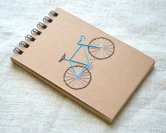 Bicicleta Mini libreta  cuaderno de reportero  por KotoDesigns
